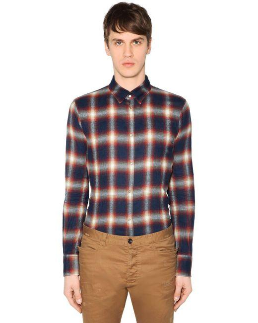 DSquared² - Blue Hemd Aus Baumwolle Mit Karos for Men - Lyst