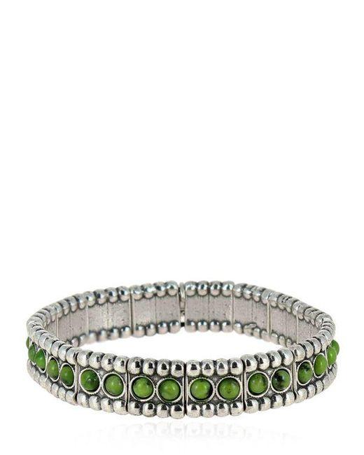 Philippe Audibert | Metallic Wappo Green Agate Stretch Bracelet | Lyst