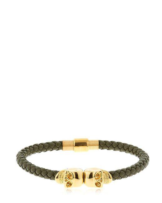 Northskull | Army Green Nappa Leather Bracelet for Men | Lyst