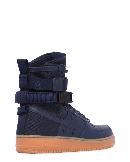 ... Nike - Blue Sf Air Force 1 High Top Sneakers - Lyst ...