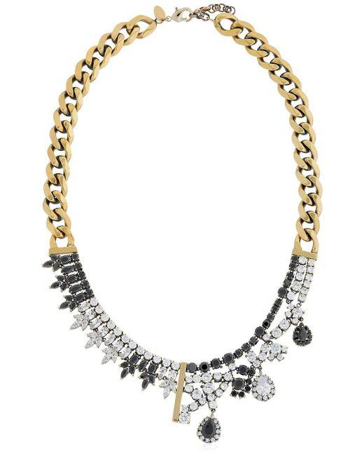Iosselliani | Metallic Optical Memento Crystal Necklace | Lyst