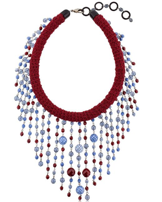 Sharra Pagano | Red Beaded Fringe Necklace For Lvr | Lyst