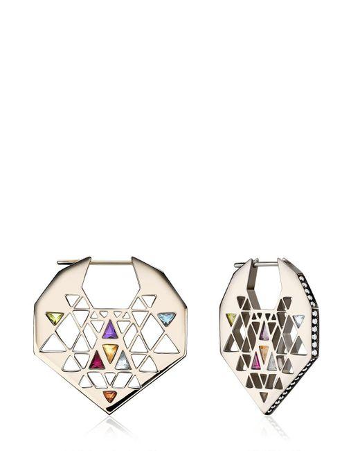 Noor Fares | Metallic Chandbali Style Earrings | Lyst