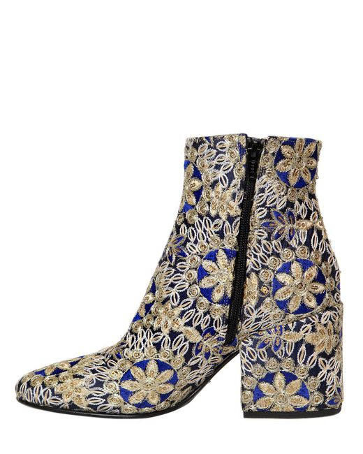 Strategia 70MM EMBROIDERED SATIN ANKLE BOOTS wlf0P