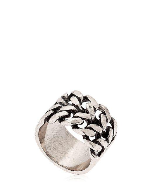 Alcozer & J - Metallic Chain Ring - Lyst