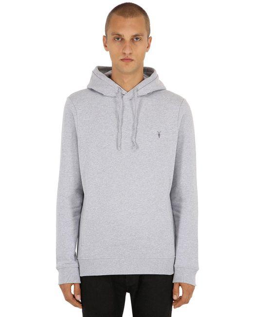 AllSaints - Gray Raven Ramskull Sweatshirt Hoodie for Men - Lyst