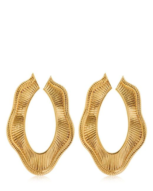 Joanna Laura Constantine - Metallic Collar Statement Earrings - Lyst