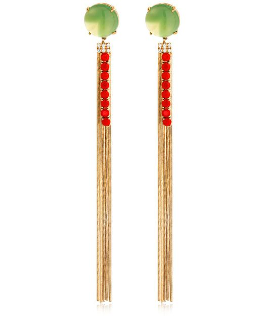 Iosselliani - Metallic Long Fringe Earrings - Lyst