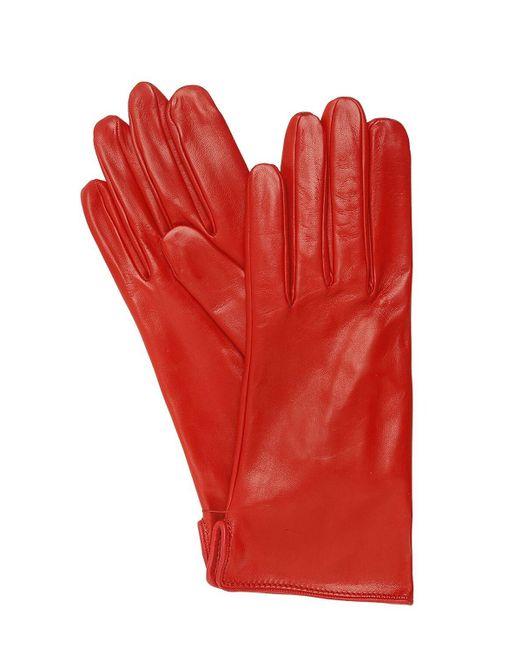 Mario Portolano Red Nappa Leather Gloves