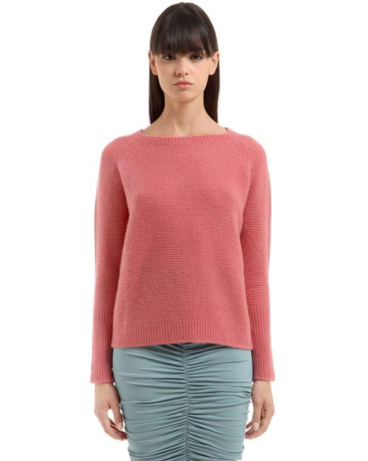 Max Mara   Pink Zeno Cashmere & Silk Knit Sweater   Lyst
