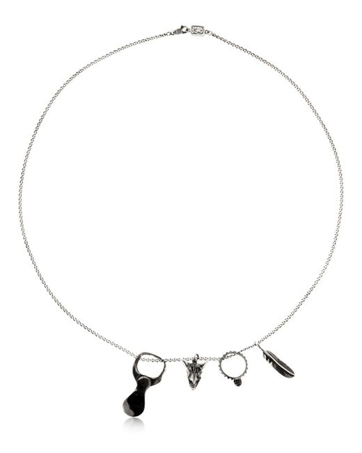 Cantini Mc Firenze - Metallic Collar Con Charms De Plata for Men - Lyst