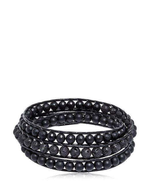Colana | Black Onyx & Lava Beads Triple Wrap Bracelet | Lyst