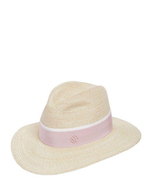 Maison Michel - Pink Henrietta Straw Hat - Lyst