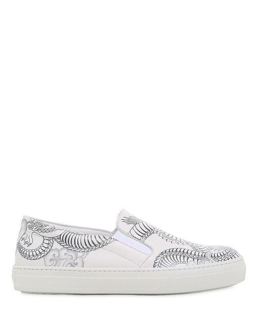 Tod's - White 20mm Double T Tattoo Leather Sneakers - Lyst