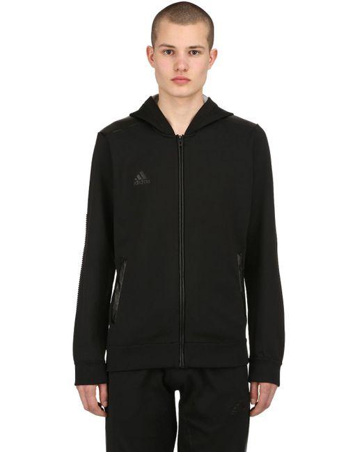 Adidas Originals - Black Paul Pogba Zip-up Knit Sweatshirt Hoodie for Men - Lyst