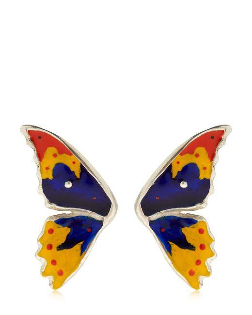 Cantini Mc Firenze - Blue Half Butterfly Earrings - Lyst