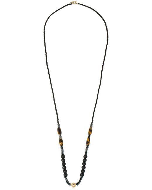Luis Morais - Multicolor Halskette Mit Gelbgold Und Tigerauge for Men - Lyst