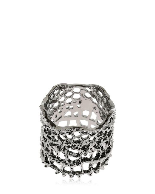 Aurelie Bidermann - Black Dentelle Bague Ring - Lyst