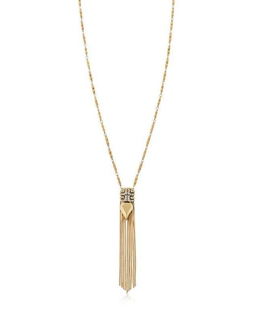 Iosselliani - Metallic Fringed Necklace - Lyst