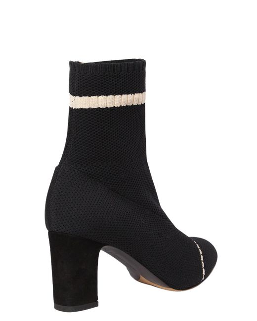 Tabitha Simmons 75MM ANNA SOCK KNIT ANKLE BOOTS d5R6FFc