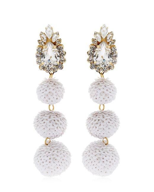 Shourouk - White Disco Earrings - Lyst