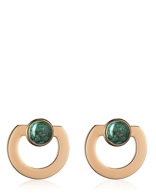 Vita Fede | Green Moneta Open Stone Earrings | Lyst