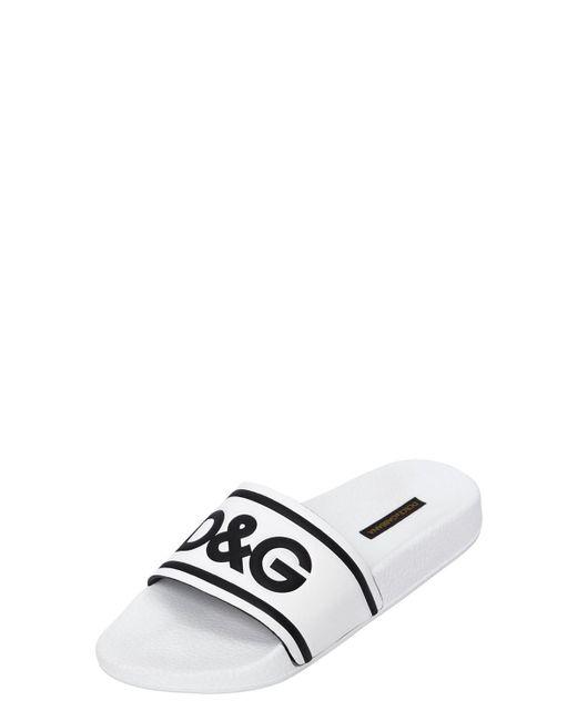 Dolce & Gabbana 20MM I HEART D&G LEATHER SLIDE SANDALS u1d89