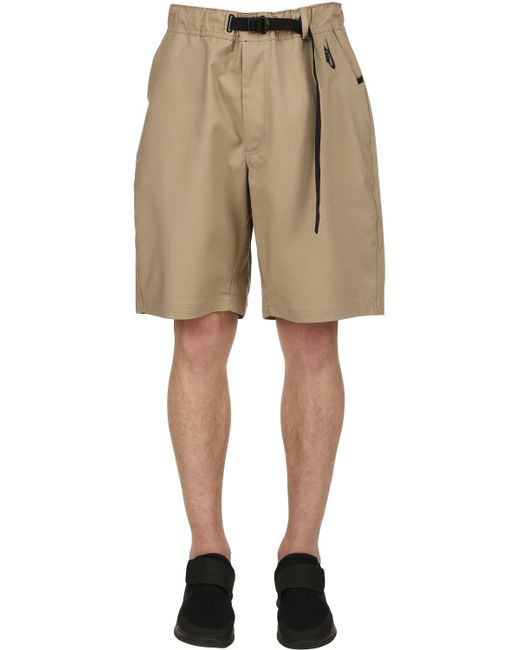 "Nike - Natural Shorts ""lab"" In Cotone Stretch for Men - Lyst"