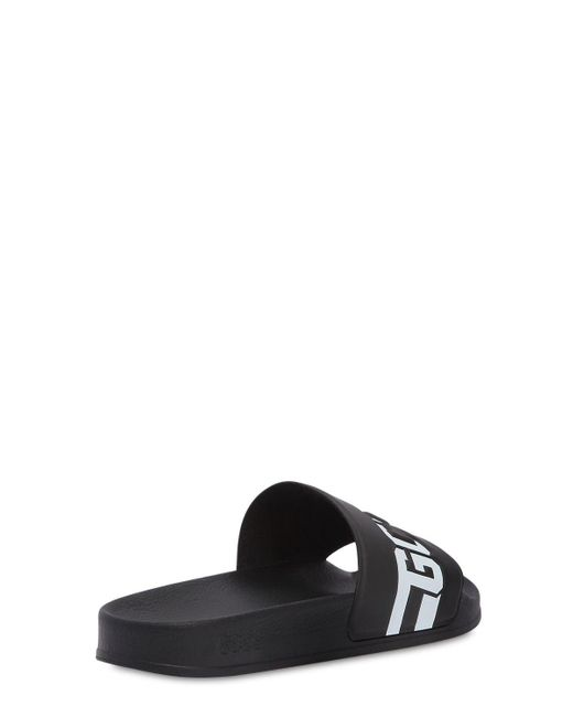 0e2e48eb0 Lyst - Gcds Black Sandals With Logo in Black for Men - Save 51%