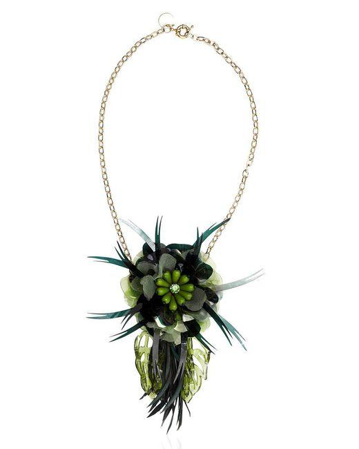 Matthew Williamson | Green Palm Necklace | Lyst