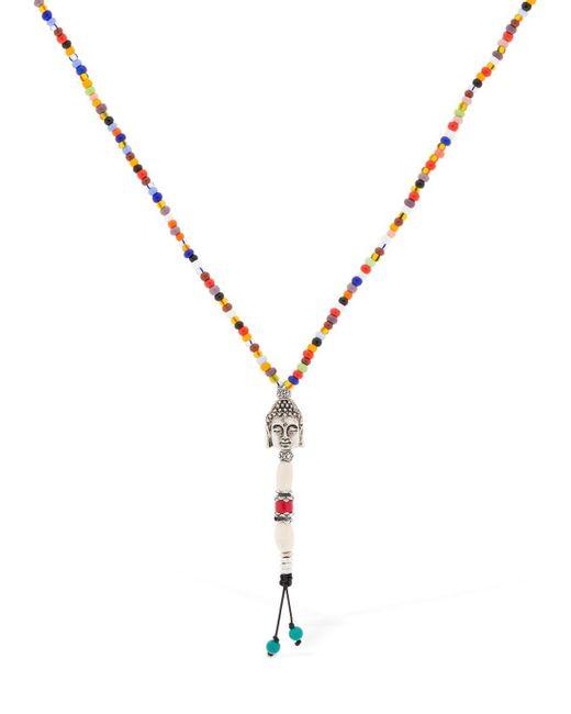 Cantini Mc Firenze - Metallic Buddha Cromo Necklace for Men - Lyst