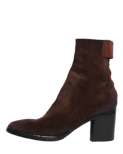 ... Alberto Fasciani - Brown 70mm Suede Ankle Boots - Lyst ...