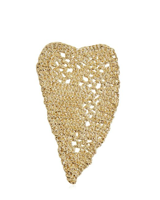 Maison Margiela - Metallic Heart Crochet Earrings - Lyst