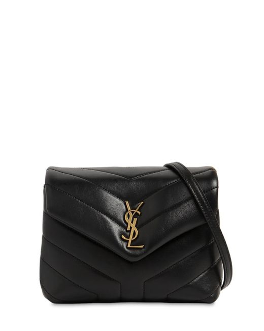bfba77cfc Saint Laurent - Black Toy Loulou Monogram Quilted Leather Bag - Lyst ...