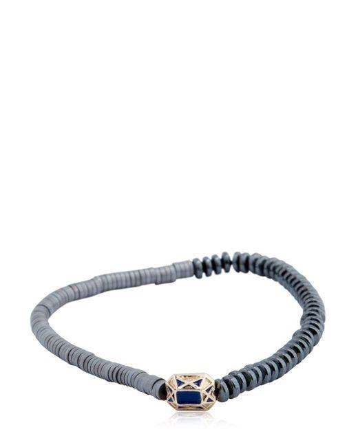 Luis Morais - Gray Gold Faceted Beaded Bracelet - Lyst