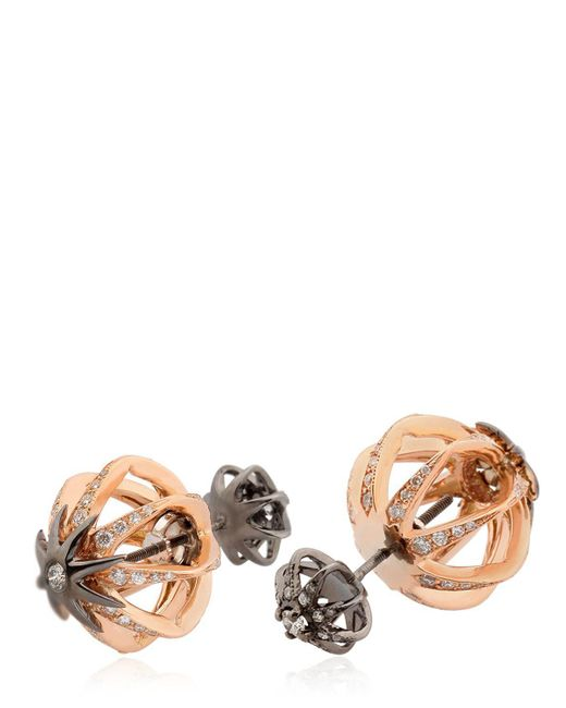 Colette - Pink Galaxia Star Cage Reversible Earrings - Lyst