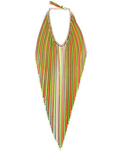 Rosantica - Multicolor Medusa Long Chain Fringe Necklace - Lyst