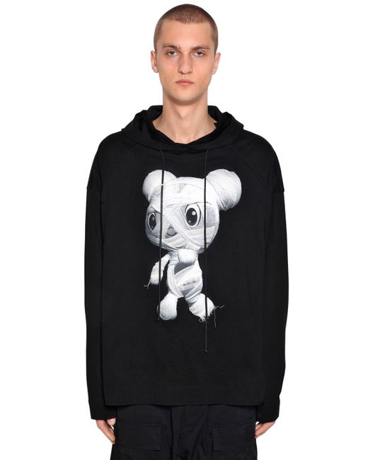 Juun.J - Black Oversize Hooded Zafar Cotton Sweatshirt for Men - Lyst