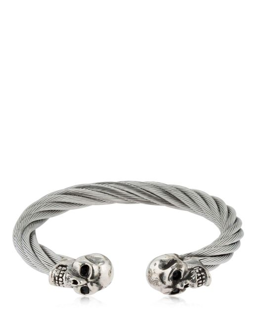 Cantini Mc Firenze - Metallic Silver Flat Chain Bracelet for Men - Lyst