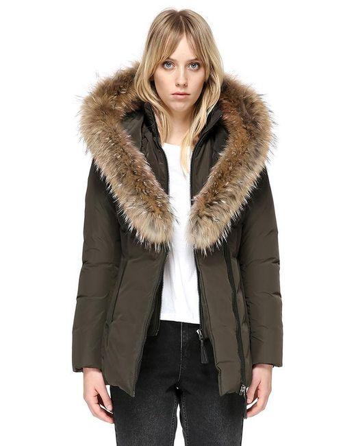 2d69c9557fba ... store mackage multicolor adali fitted winter down coat with fur hood  lyst 23338 5cbf4 ...