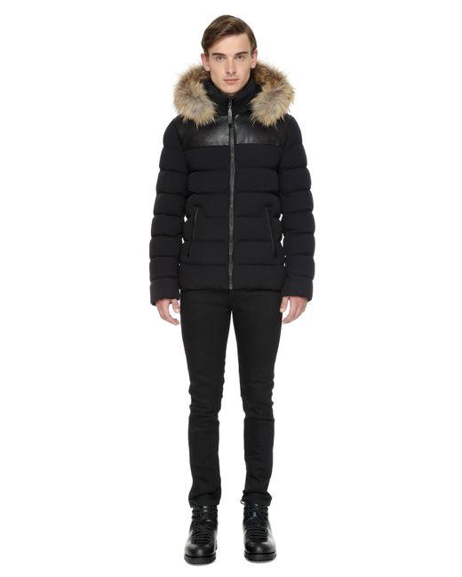 Mackage | Black Lux Hooded Jacket W/coyote & Rabbit Fur Trim for Men | Lyst