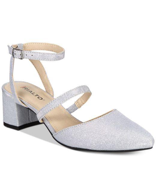 Rialto | Metallic Marigold Block-heel Detail Dress Pumps | Lyst