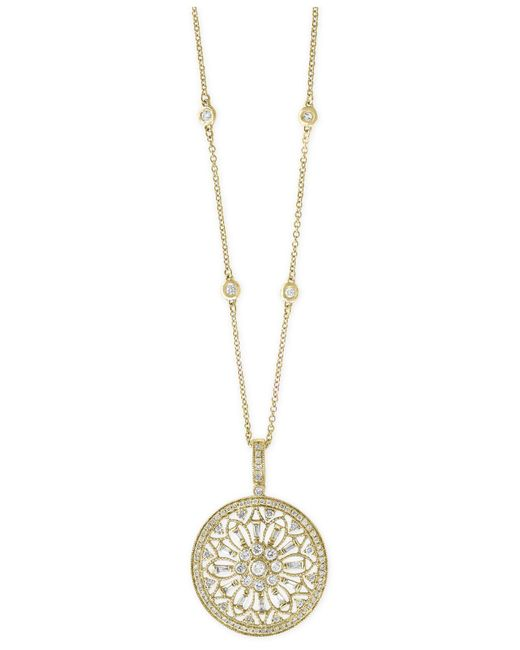 Effy Collection   Metallic Diamond Filigree Pendant Necklace (1 Ct. T.w.) In 14k Gold, White Gold Or Rose Gold   Lyst