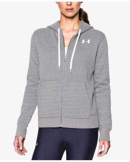 Under Armour | Gray Favorite Fleece Zip Hoodie | Lyst