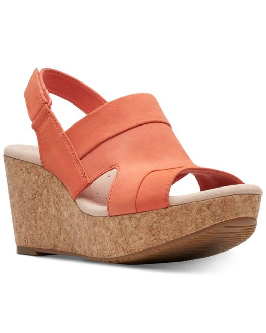 2e38fe0543a2 Clarks - Multicolor Annadel Ivory Wedge Sandals - Lyst ...