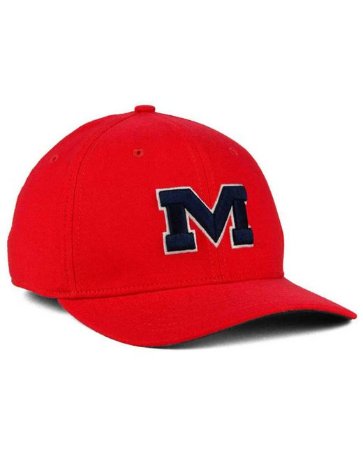 more photos f99a1 6d27c ... Nike - Red Mississippi Rebels Classic Swoosh Cap for Men - Lyst ...