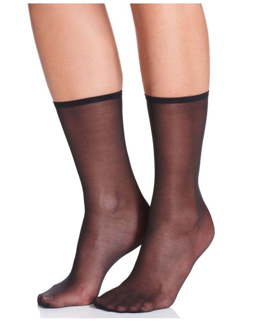 Hue - Black Sheer Anklet Socks - Lyst