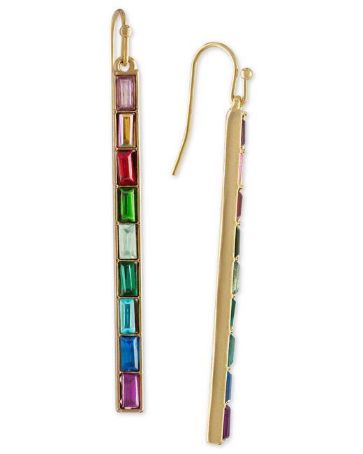 RACHEL Rachel Roy - Metallic Gold-tone Multi-stone Bar Linear Drop Earrings - Lyst