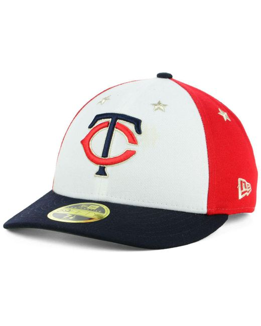 cheap for discount e3ea6 3bb37 ... KTZ - Multicolor Minnesota Twins All Star Game Patch Low Profile  59fifty Fitted Cap 2018 for ...