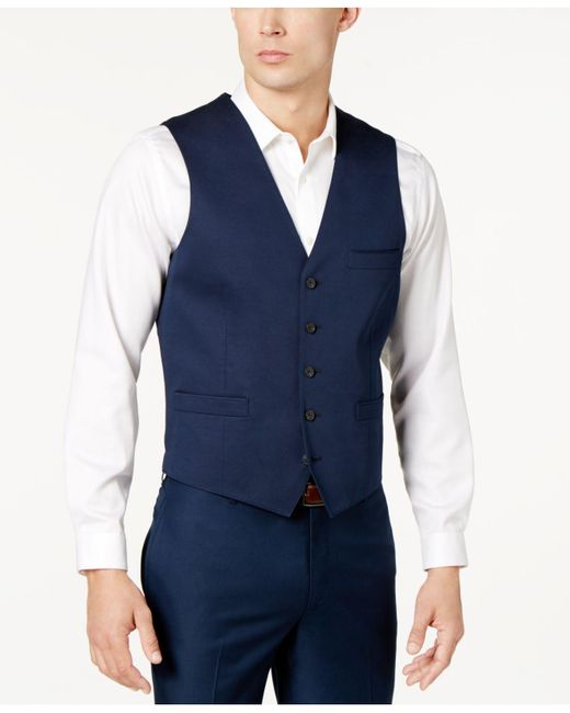 INC International Concepts - Blue Collins Slim-fit Vest for Men - Lyst